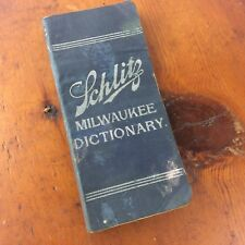 1895 Pre Prohibition Schlitz Milwaukee Dictionary Advertisement
