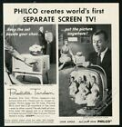 1958 Philco Predicta Tandem TV television set photo vintage print ad photo