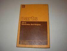 Caterpillar 3512 Generator Parts Manual , 24Z1 - up