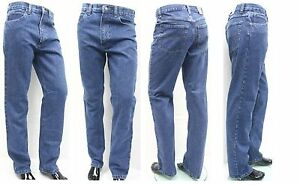 "Men's Big Size Jeans Stonewashed Regular Fit Sizes 50""-56"" XXXL Sizes"