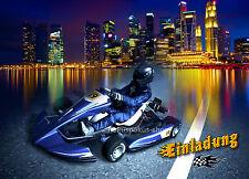 8 Einladungskarten Go Kart Rennen Autos Geburtstag Kindergeburtstag Einladungen