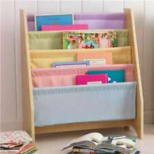 KidKraft Wood & Canvas Sling Shelf Kids Book Case Shelf - Pastel (Open Box)