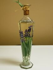 Decorative Kitchen Bottle Infused Blue Flowers