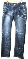 Coogi Womens Jeans  Denim Embroidered  Multicolor  Size 11/12 Dark Wash