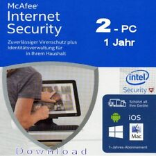 McAfee Internet Security 2016/2017/2018 *2-Geräte / 1-Jahr* (AntiVirus) / KEY