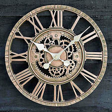 Large Outdoor Garden Wall Clock Open Face Metal Large Big Roman Numerals Indoor