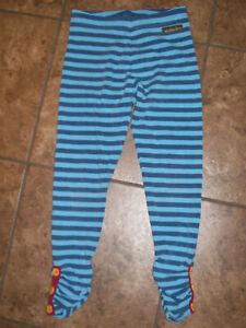 Matilda Jane Girls  Sightseeing Blue Striped Leggings Size 6
