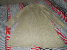 Vintage Hand Knitted Aran Sweater Dress