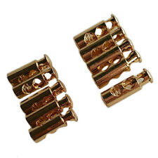 10Pcs Brass Color Plated Cord Stopper Lock End Toggles with Metal Spring