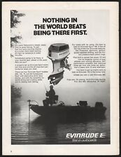 1976 EVINRUDE 135 Outboard Motor Photo AD Fishing Bass Boat