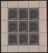 Mozambique Co. 1918-31 1½c violet & black sheetlet