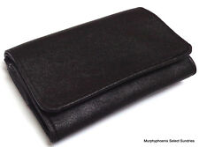 Kingstar TP-0621 PU Leather Tobacco Pouch NIP Black Double Snap Close