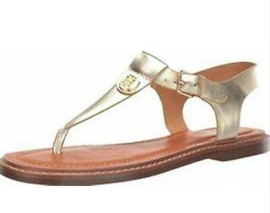 NEW TOMMY HILFIGER Burke Buckle Sandal - Women size 9 Gold