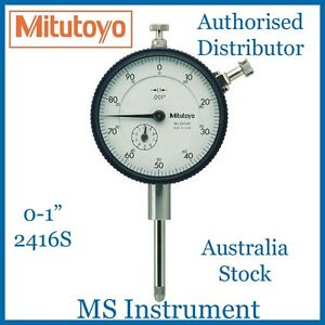 "Genuine New Mitutoyo 2416S Dial Indicator 0-1"" Australia Stock"