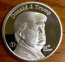 Donald J. Trump 45th President .999 Fine Silver 1. Oz Round White House Bullion