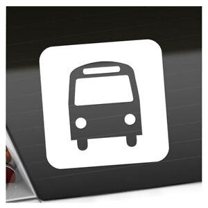 Bushaltestelle Schedule Piktogramme Aufkleber Sticker 25 Farben Neon Matt