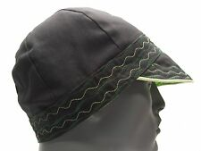 BLACK & GREEN REVERSIBLE - YOUTH SIZE - SOFT FORM HAT SUN CAP!