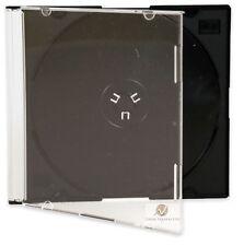 20 CD SINGOLA JEWEL CASE 5,2 mm SLIM Vassoio Nero Nuovo vuoto sostituzione COVER HQ AAA