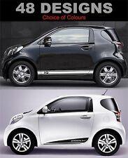 Toyota IQ calcomanías de lado Rayas Pegatina Fit Toyota IQ elección de diseño