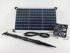 20 Watt ACQUA FISSA VENTOLA SOLARE ip58 Solar VENTOLA SOLARE Ventilatore Ventilatore