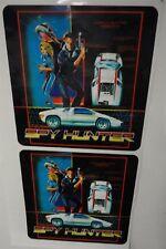 Spy Hunter Arcade Game Side art decal set