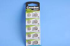 10 Camelion Alkaline Knopfzellen AG13 LR44 Batterien Uhrenbatterien Knopf Zellen