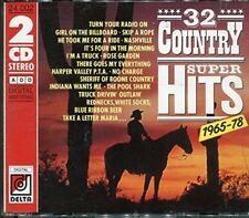 32 Country Super Hits 1965-78 Johnny Paycheck, La Costa Tucker, David H.. [2 CD]