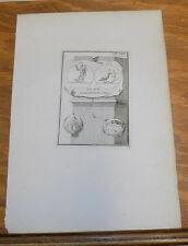 1788 Ancient Gravestone Mythology Emblems///WARRIOR, & RAVEN WITH LAUREL BRANCH