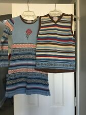 Hanna Andersson 140 Matching Christmas Dress and Sweater Vest