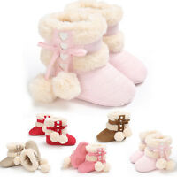 Toddler Infant Newborn Baby Girls Soft Crib Sole Boots Prewalker Warm Shoes HOT