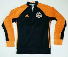 Houston Dynamo Anthem Jacket Adidas Size Medium HARD TO FIND! Black Orange EUC