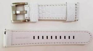 TW STEEL Marc Coblen Uhrenarmband Ersatzband Lederband 22 mm NEU LEDER WEIß 7