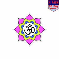 Yoga Lotus Flower 4 pack 4x4 Inch Sticker Decal