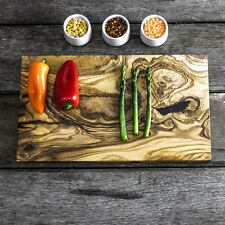 Rustic Olive Wood Chopping / Cheese Board - 35cm x 20cm x 2cm (NCR35F2)