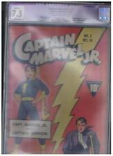 Fawcett Publications Captain Marvel Jr #2 Apparent CGC 7.5 VF- Origin Cap Nippon