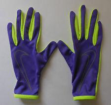 NIKE Women's  Just Do It Relay Run Running Gloves Color Hyper Grape/Volt Size M