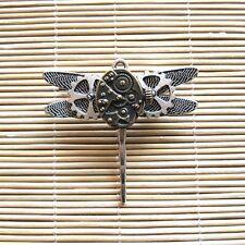 steampunk punk rock men women diy jewelrycollar brooch pins dragonfly metal gear
