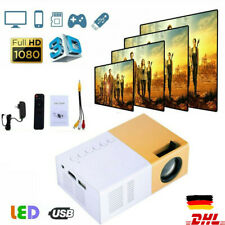 Tragbarer Mini LED Projektor HD 1080P Heimkino-Beamer Multimedia HDMI AV VGA USB