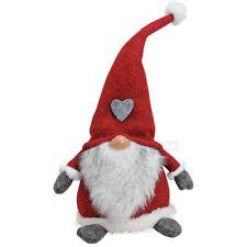 Nikolauswichtel Weihnachtswichtel Dekofigur aus Textil / Poly 20x16x40 cm rot