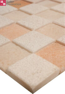 Marbré Mosaïque Carrelage Marbré Blanc Rougeâtre 1 m2