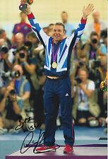 CHRIS HOY HAND SIGNED LONDON 2012 OLYMPICS 12X8 PHOTO GREAT BRITAIN 2.