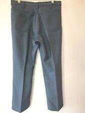 Vintage Levis Slate Blue Gray Dacron Polyester Pants Mens size 36x30 Usa P4