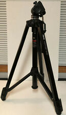 """72"""" Triple Angle Video-Tripod for Camcorders & Large Cameras Extendable Black"""