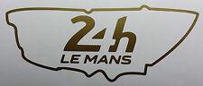 Le MANS 24hr 2017-ORO 30cm x 12cm Graphics, in Vinile Adesivo, decalcomanie PISTA