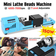 150W Mini Lathe Beads Machine DIY Lathe Standard Woodworking Lathe Polishing