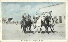 Winner SD Rosebud Native American Indians c1910 Postcard