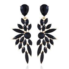 Women Rhinestone Crystal Earrings Tassel Drop Dangle Statement Ear Stud Jewelry