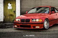 schwarz glänzende Nieren Frontgrill 3er BMW E36 Coupe VFL M3 salberk 3601
