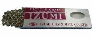 Izumi / Jet Black BMX Chain - 1/2 x 1/8 Single Speed - 110L - Silver