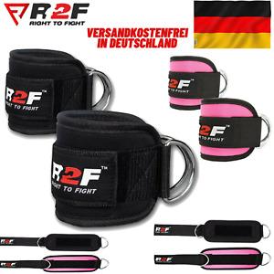 R2F Knöchelriemen Gym D-Ring Gewicht Heben Kabel Befestigung Beinrolle